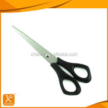 "6"" FDA practical stainless steel office paper cutting scissors"