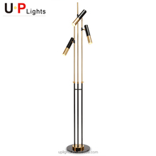 New design black and gold color marine search light floor lamp modern