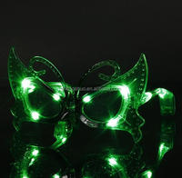 Brand New Red Butterfly Sparkle Color LED Light Up Flashing Glass Glasses Club Glow Party Gift