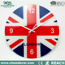 Matting glass wall clock with aluminum number and dial