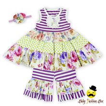 66TQZ247 Yihong Toddler Floral Top Dress Easter Outfit Baby Boutique Clothing Fancy Plastic Buttons For Children's Clothing