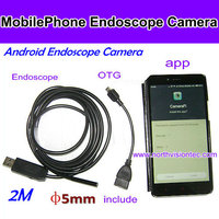 7mm Dia USB Endoscope Cmos 2m Long Cable Waterproof 6-led Borescope Endoscope Inspection Tube