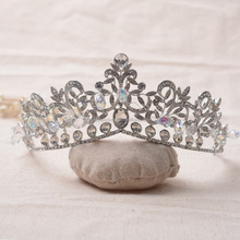 PX038 new bride jewelry beauty oval crystal stones crown wedding hair crown luxury mermaid crown
