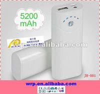 5200mAh portable charger power bank for Iphone HTC Sony ericsson Samsung Nokia Blackberry PSP GPS etc.
