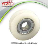 YCZCO oem nylon rollers small plastic sliding wheel