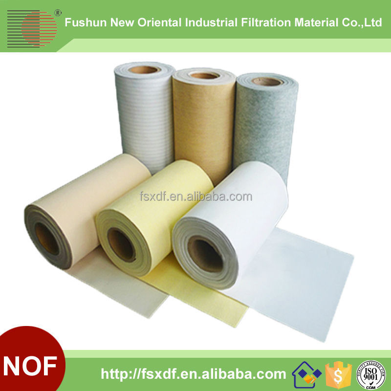 Nonwoven needled felt for waste gas filter