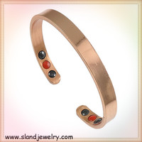Wholesale fashion ion Wellness jewelry Custom LOGO plain Copper magnetic power energy bracelet for Balance health
