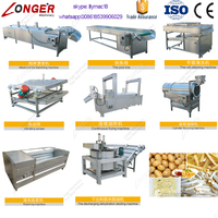 Factory Price Crisp Finger Stick Frying Equipment Fresh Potato Chips Making Production Line Frozen French Fries Machine For Sale