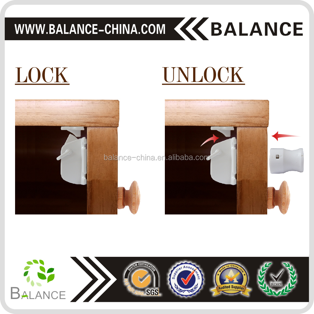 Child magnetic safety cabinet lock drawer lock