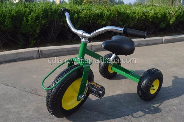 All Terrain metal child tricycle with wagon