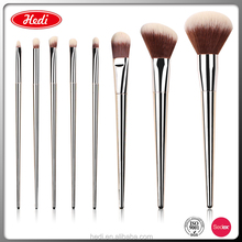 2018 unique light silver cosmetic tools 8 pcs makeup brush set