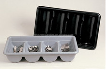 Kitchenware 4 Compartment Cutlery Plastic Storage Box /Cutlery Tray