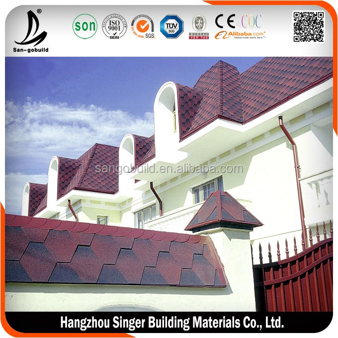 Lighter than Ceramic Roofing Tile/ Building and Construction 5-tab Asphalt Shingle Prices
