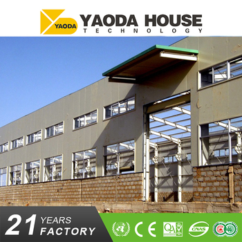 High quality diaphanous prefabricated steel structure workshop