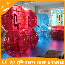 Wholesale purple full color soccer bubble for kids, colorful inflatable bubble socce