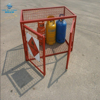 fully welded high quality security cage gas bottle storage cage