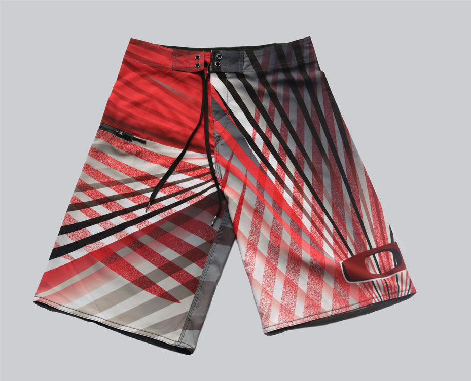 High quality can be customized men's printed polyester beach pants casual pants quick dry shorts