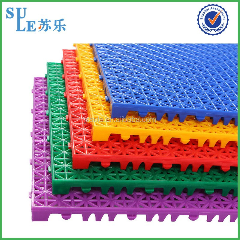 Wholesale waterproof outdoor floor covering plastic slat floor plastic floor mat made in china