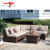 Multi-purpose Modern Outdoor Furniture Garden Rattan Wicker Corner Sofa Bed Set with Lift Storage
