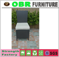 Aluminum frame rattan banquet chair stacking outdoor chair