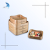 Chinese supplier top class natural color bamboo sushi display tray set
