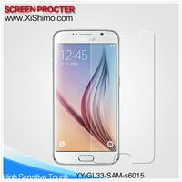 Manufacturer china wholesale hot sale 0.33mm 9H anti scratch 2.5D tempered glass film screen protector for Samsung galaxy S6