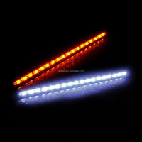 2016 hot sale Auto Car 18 LED Lamp Daytime Running Light DRL with Orange Turning Signal