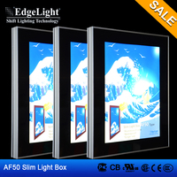 Edgelight AF50 aluminous frame clip type Waterproof outdoor led lighting box