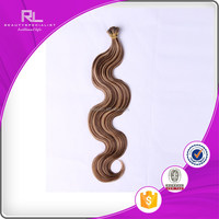 wholesale 2color hair extension Chinese remy human hair I-tip pre-bonded hair extensions