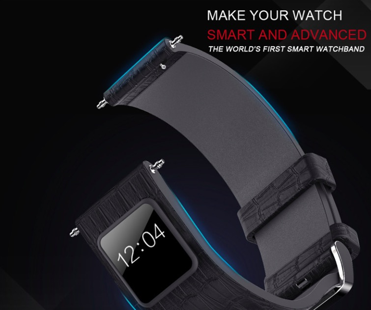 newest design bluetooth 4.0 OEM 20/21/22/23mm NVST1 H1 smart leather Watch brand Strap with Dial 42mm buckle watch strap