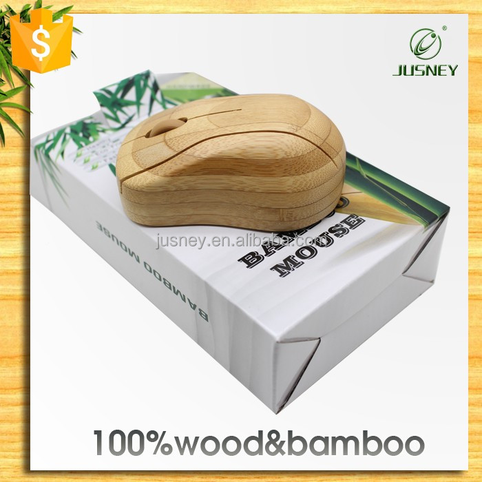 2.4Ghz Computer Accesory Optical Wireless USB bamboo wooden mouse