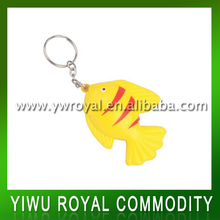 Custom Animal Pattern Anti Stress Fish Shaped Keychain