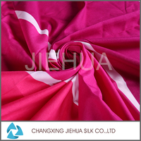 Top selling products polyester spandex slender stripe satin print fabric