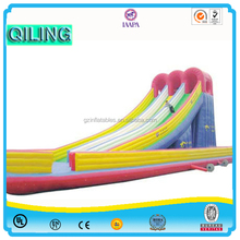 2016 Qi Ling hot sale commercial outdoor giant inflatable slip and slide for adult and kids