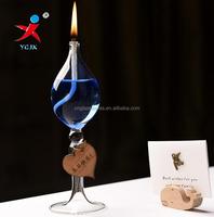 Kerosene Lamp mordern high roud stand glass for birthday decoration