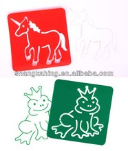 2015 hot sale PP Mylar animal custom made wall plastic stecils template stencil from professional sticker manufacture