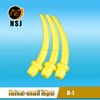 N-1 Yellow disposable suction tip dental scaler tips