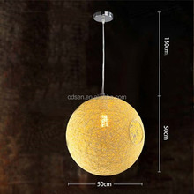 aluminum wire led lighting natural rattan ball decorative light