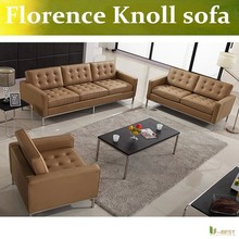 Florence Konll European leather office sofa