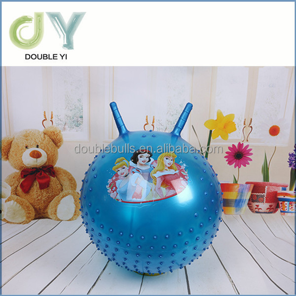 Custom ECO-friendly PVC hopper ball/jumping ball with handles for kids