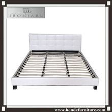 Modern italian bedroom furniture set cheap wave king size sheets black/white soft synthetic/pu/genuine luxury leather bed