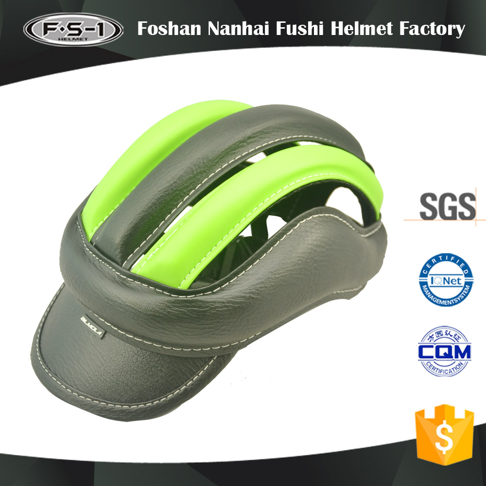 PU leather bicycle helmet manufacturer for CPSC certification bmx bike helmet