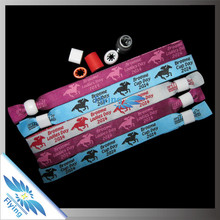 custom merchandise gift woven wrist band for event