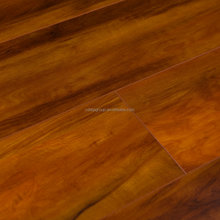 Luxury 12mm HDF fire resistant v groove floating double click noble house laminate flooring