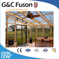 New Style Double Tempered Glass Aluminum villa sunroom and winter garden house