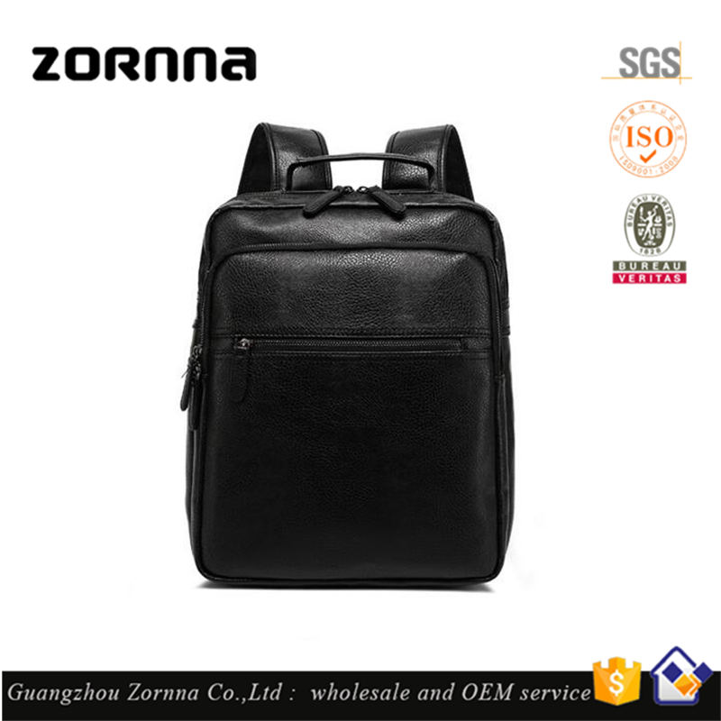 Quality latest design china market dongguan synthetic leather large backpack laptop travel bag