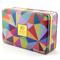 Colored Tin Box With Hinged Lid
