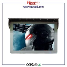 "CE RoHs FCC 19"" bus/car LCD media USB advertising display player/digital signage"
