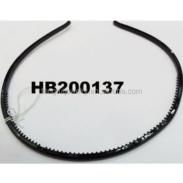 black thin plastic headbands with teeth