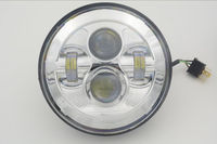 Hot sell Chrome or black color 7 inch led head light lamp for Jeep Wrangler JK /for hummer/motorcycle